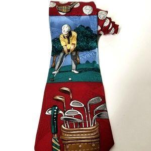 Tabasco Golf 100% Silk Neck Tie